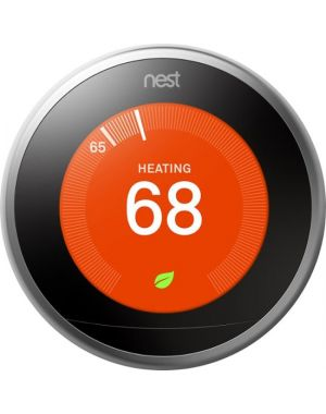 Nest Labs - Nest Learning Thermostat 3rd Gen - Stainless Steel