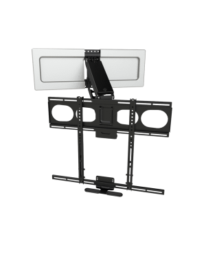 MantelMount - Pull Down TV Mount w/Full Motion for 44+ Inch Flat Screen TV's w/Sound Bar Adapter